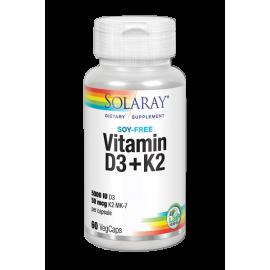 Vitamin D3+K2 60 Cáps. Solaray