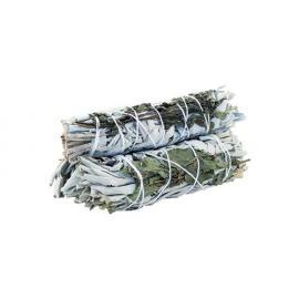 Sahumerio - Ramillete de Salvia Blanca y Romero 10Cm - Limpieza Energética