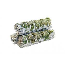 Sahumerio - Ramillete de Salvia Blanca y Ruda 10Cm - Limpieza Energética