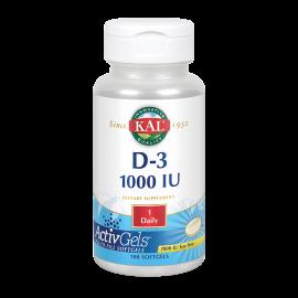 Vitamina D3 1000Ui - 100Perlas - Kal